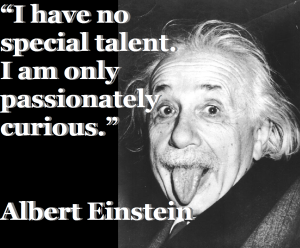 Einstein-talent-curiosity